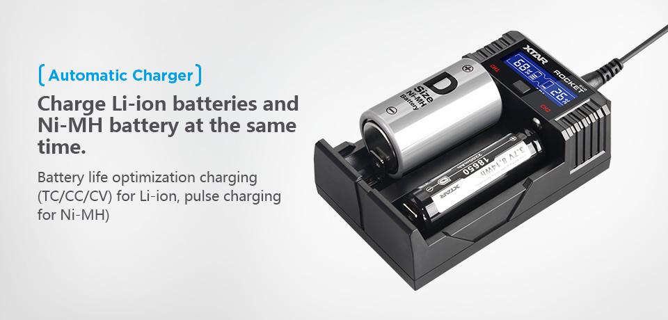 様々な種類の充電池に対応
