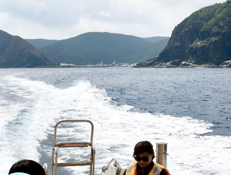 渡嘉敷島までに船酔い