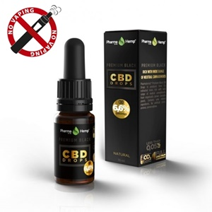 PharmaHemp 6.6% CBD OIL DROP PREMIUM BLACK
