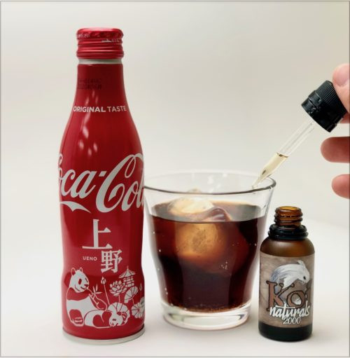 NATURALSをコカ・コーラに垂らす