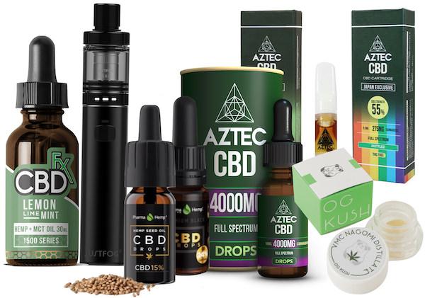 様々なCBD製品