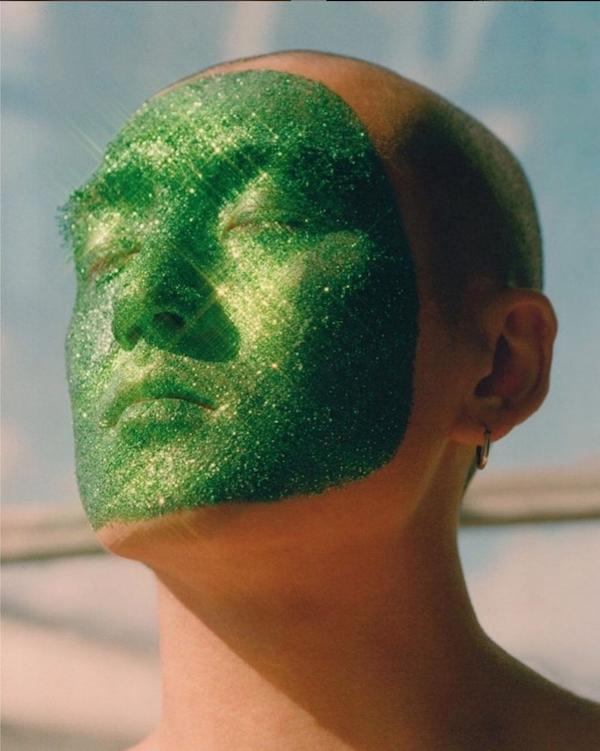 緑色のラメを使う