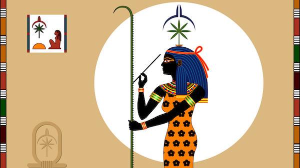 エジプトの壁画にリーフ